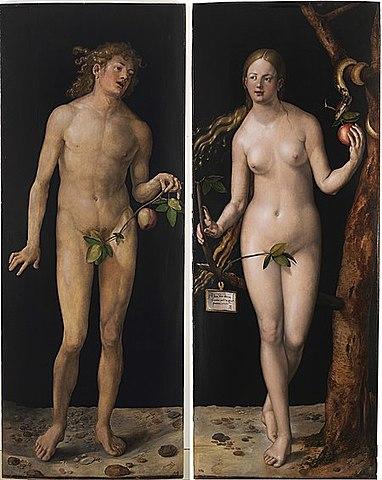 Adán y Eva. Durero. Renacimiento Europeo. Alemania.