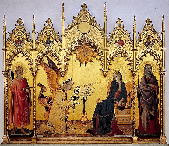 La Anunciación (Simone Martini, Florencia)