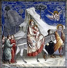 Huida a Egipto (Giotto, Padua)