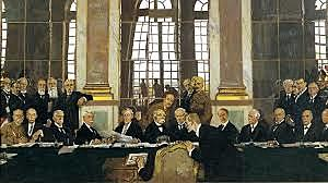 Singing of the Treaty of Versailles
