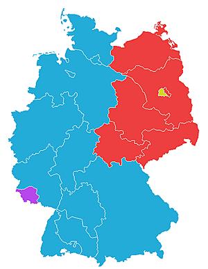 Deling av Vest og Øst-Tyskland