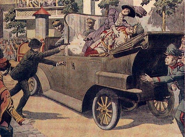 Assassinat de Francesc Ferran a Sarajevo