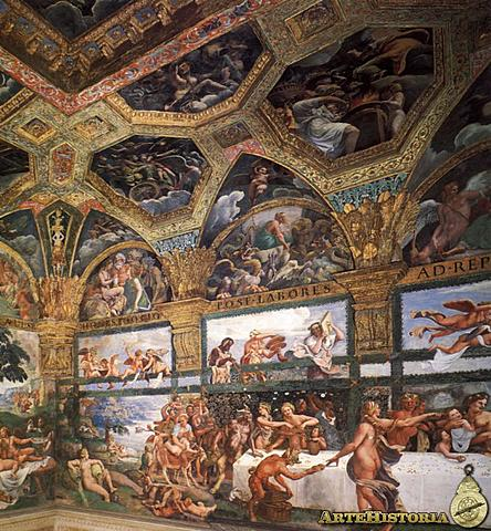 Frescos de la Sala de Psiche (Giulio Romano, Palacio del Té, Mantua)