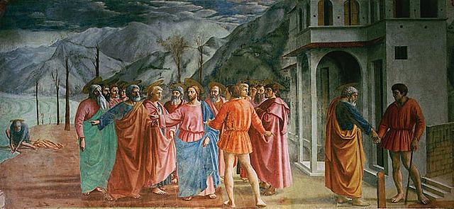 El Tributo de la Moneda (Masaccio, Florencia)