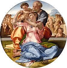 Tondo Doni - La Sagrada Familia (Miguel Ángel, Florencia)