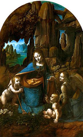 La Virgen de las Rocas (Leonardo da Vinci, Londres)
