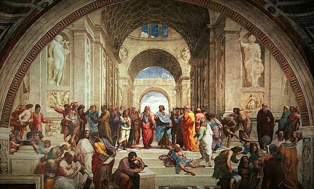 La Escuela de Atenas (Rafael Sanzio, Roma)