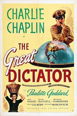 """""""O Grande Ditador"""" - Filme estrelado por Charlie Chaplin"""