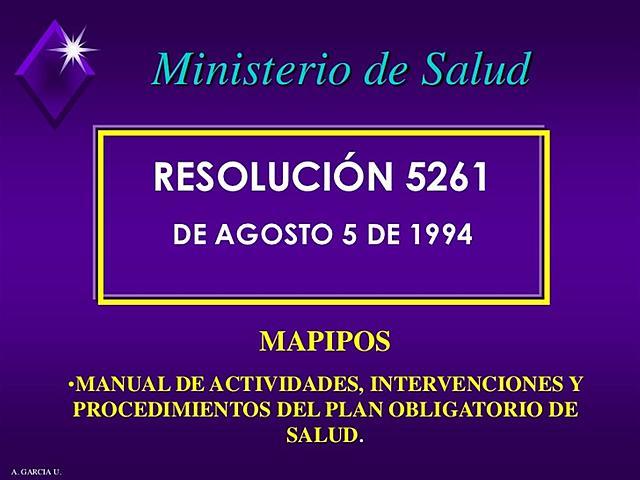 Resolucion 5261
