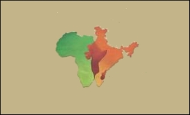 Africa and India separate from Antarctica