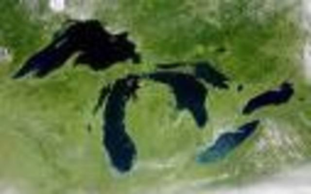 Great Lakes started to be formed by glaciers