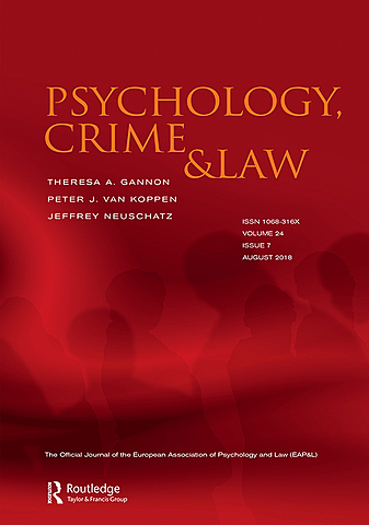 """Revista """"Psychology, Crime and Law"""""""