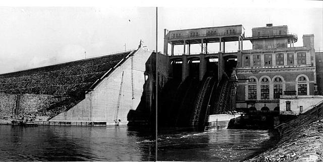 Строительство Широковской ГЭС