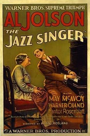 """primeiro filme sonoro """" O cantor de jazz """""""
