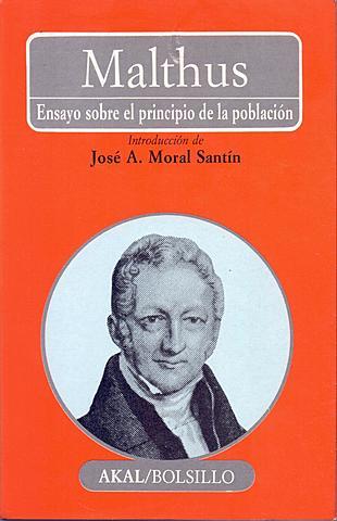 1838 Leyó como pasatiempo¨El ensayo sobre el principio de la población¨