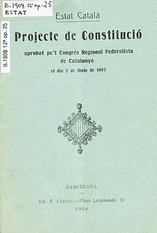 Proyecte de la Constitució de l'Estat català