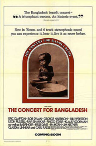 First benefit concert organized for Bangladesh by George Harrison