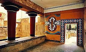 Construcción del palacio de Cnosos