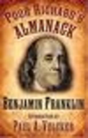 """Ben Franklin's """"Poor Richard's Almanac"""""""