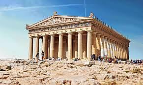 Construcción del partenón de Atenas