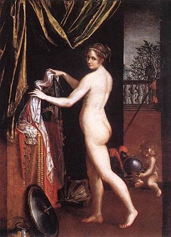 Minerva vistiéndose, Lavinia Fontana