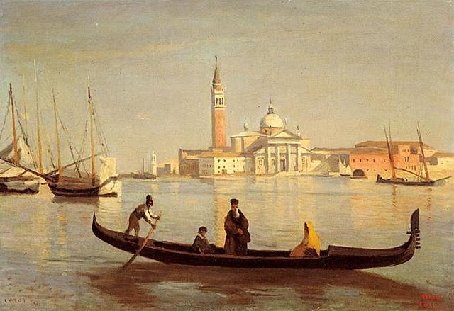 Góndola en el Gran Canal de Venecia, Corot