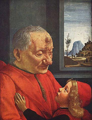 Un Anciano con su Nieto (Ghirlandaio, París)