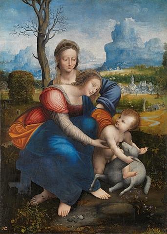 Santa Ana, la Virgen y el Niño (Leonardo da Vinci, París)