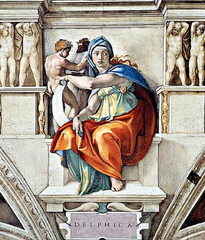 La Sibila de Delfos (Miguel Ángel, Roma)