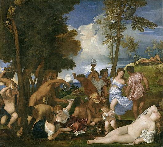 La Bacanal de los andrios (Tiziano, Madrid)