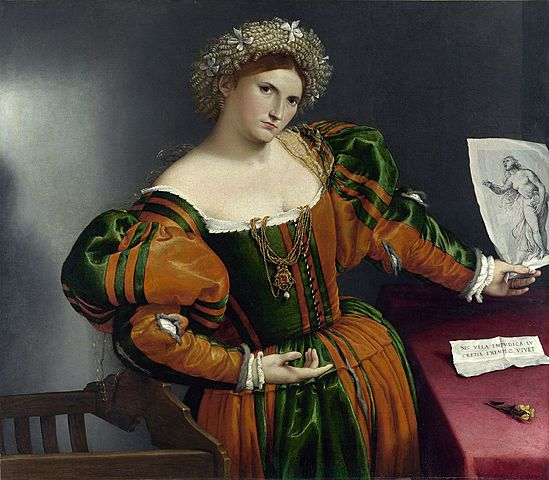 Retrato de Lucrezia Valier o Retrato de una dama noble como Lucrecia (Lorenzo Lotto, Londres)