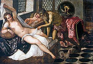 Venus, Vulcano y Marte (Tintoretto, Munich)