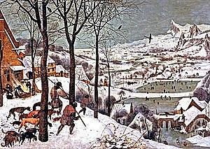 """Los Cazadores en la Nieve (Pieter Brueghel """"el Viejo"""", Viena)"""