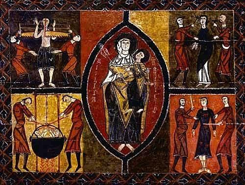 Martirio de San Quirce Frontal del Altar (Lleida)