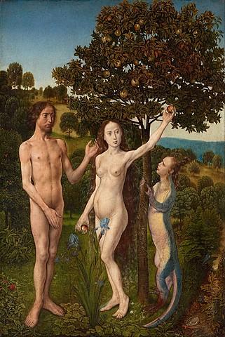 Adán y Eva - Díptico de Viena (Hugo van der Goes, Viena)
