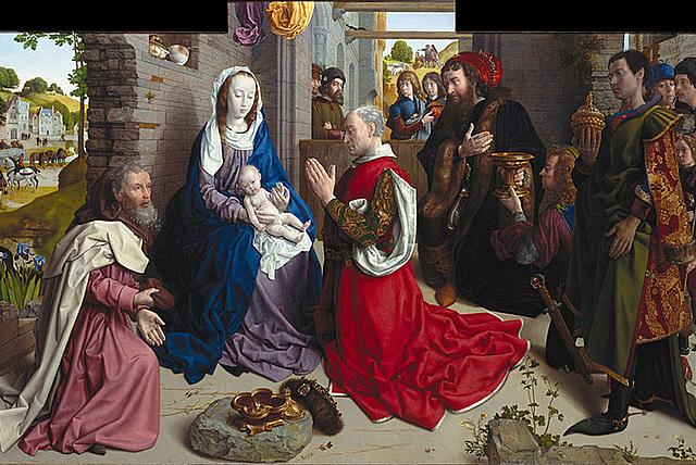 La Adoración de los Reyes (H. van der Goes, Berlín)