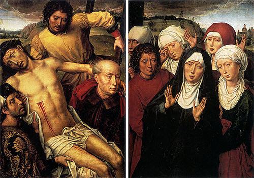 Díptico del Descendimiento de la Cruz y llanto de las santas mujeres (Hans Memling, Granada)