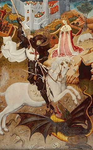 San Jorge matando al Dragón (Bernardo Martorell, París)