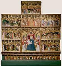 Retablo de La Bañeza o de de la vida de la Virgen y de San Francisco(Nicolás Francés, Madrid)