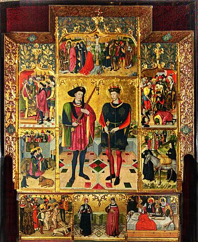 Retablo de San Abdón y San Senen (Jaume Huguet, Tarrasa)