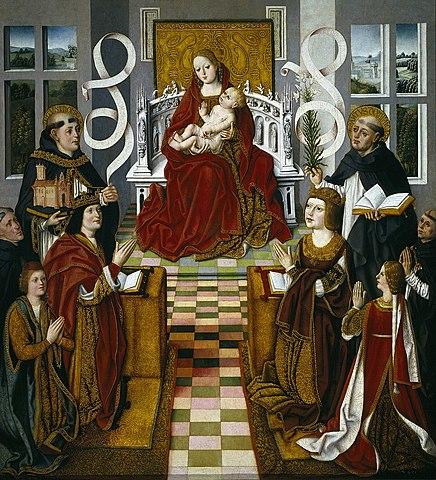 La Virgen de los Reyes Católicos (Maestro de los RRCC, Madrid)