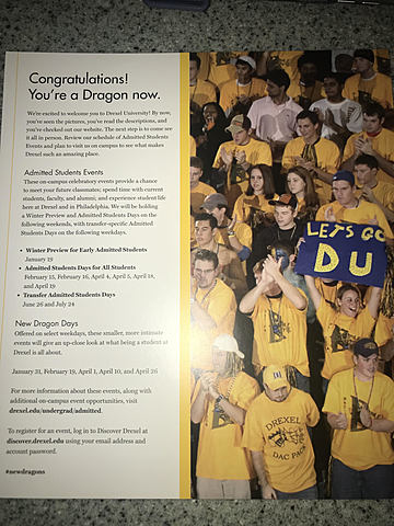 Aceptación a Universidad de Drexel