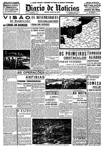 Dia D - Desembarque das tropas aliadas: início da libertação da França