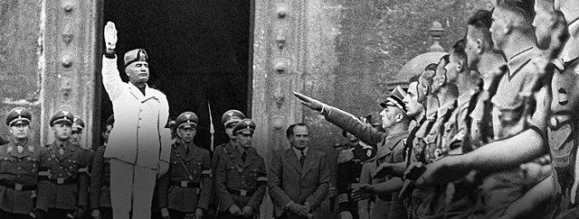 Fascismen i Italia og Mussolini.