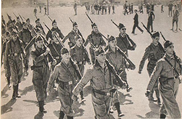 Borgerkrig i Spania.