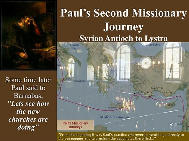 The Second Missionary Journey of Paul from Antioch