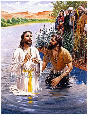 Jesus is Baptized by John the Baptist In The Jordan River