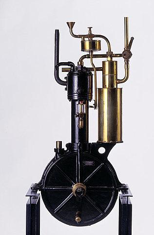 Gottlieb Daimler develops a internal combustion engine.