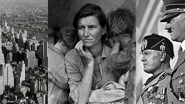 Viktige hendelser i Norge i mellomkrigstiden