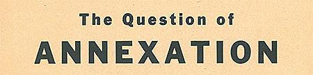 Annexation Question